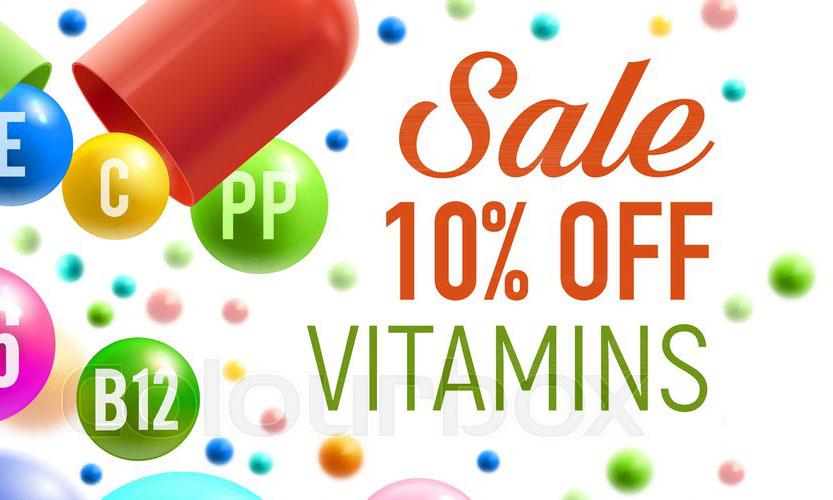 Giảm giá vitamin